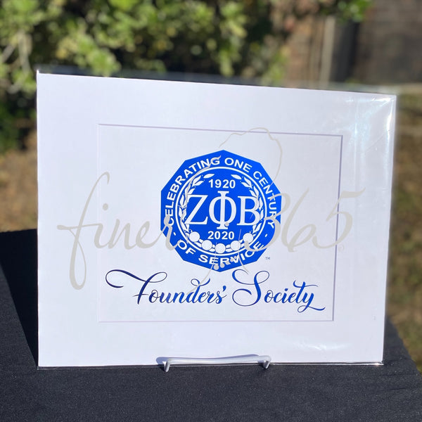 Centennial Closeout Visionary - Founders' Society - Royal Blue Metallic Centennial Commemorative Print