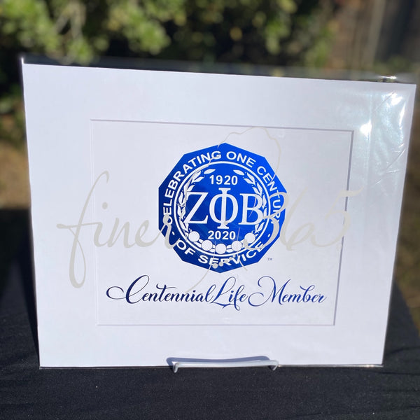 Centennial Life Member - Royal Blue Metallic Centennial Commemorative Print