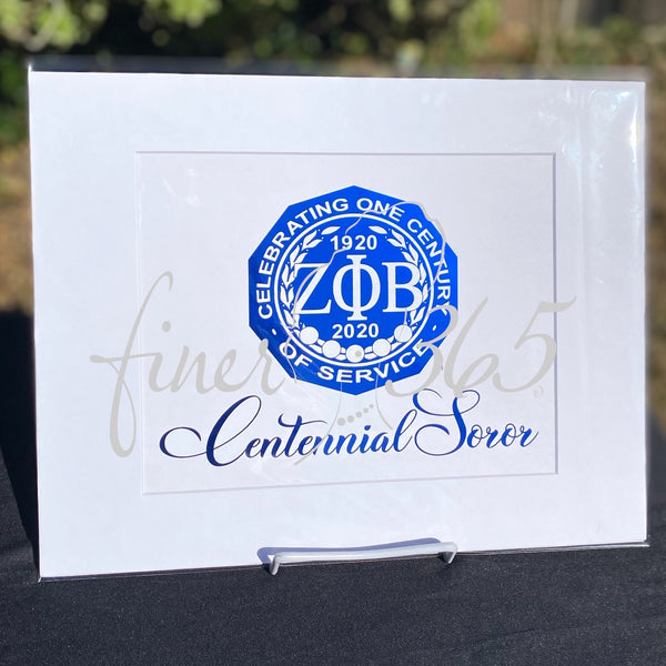 Centennial Soror - Royal Blue Metallic Centennial Commemorative Print