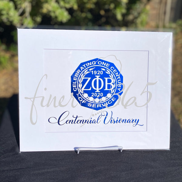Centennial Visionary - Royal Blue Metallic Centennial Commemorative Print