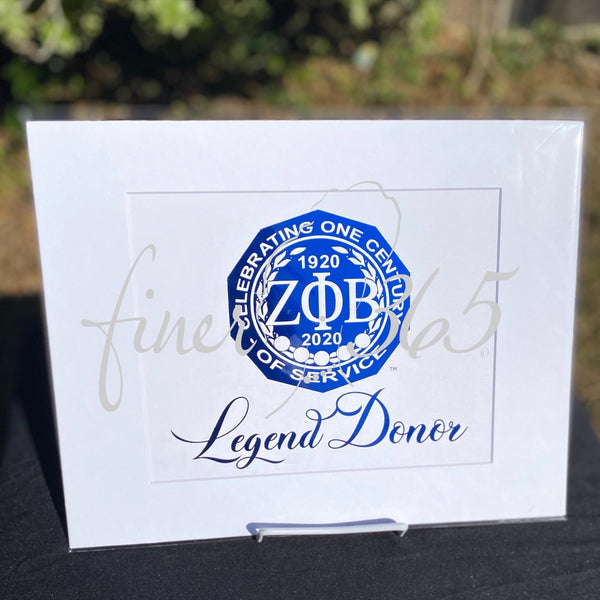 Visionary - Legend Donor - Royal Blue Metallic Centennial Commemorative Print