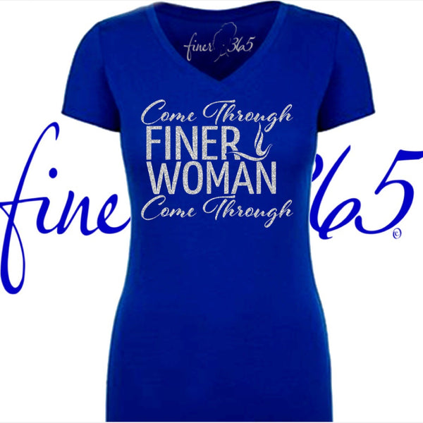 Come Through FINER WOMAN - Glitter V-neck