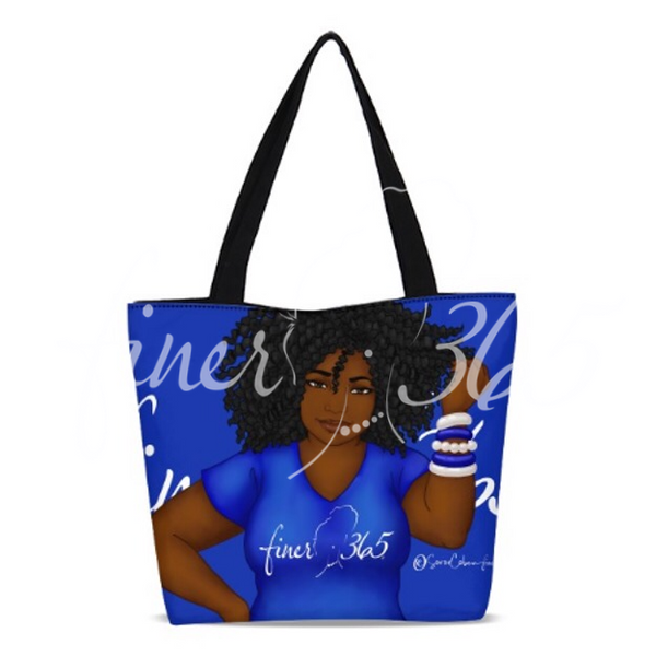 Finer365 Diva Tote Bag - Blue
