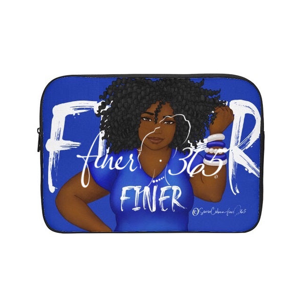 Finer Blue Tee Tablet/Laptop Sleeve