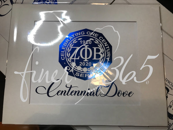 Centennial Dove  - Royal Blue Metallic Centennial Commemorative Print