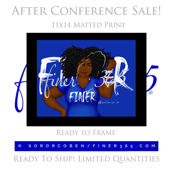 Finer365 - BLACK MAT - 11x14 FINER DIVA PRINT
