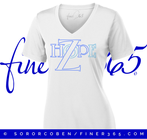 National Zhope Rhinestone - V-neck Tee
