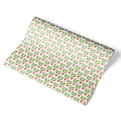 Blooming Heart Wrapping Paper Sheet