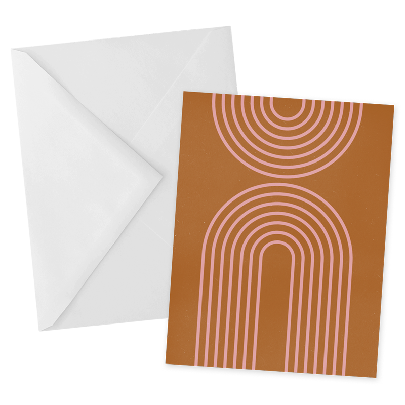 Deco Arch Notecard