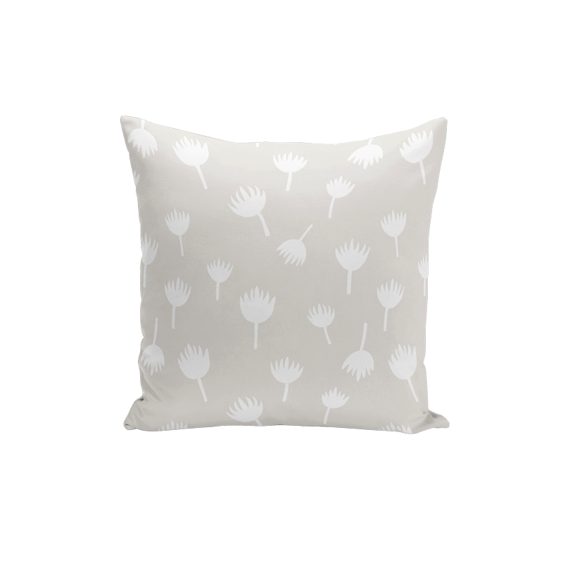 Brush Flower Pillow Cover