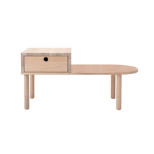 Load image into Gallery viewer, Oak Table Bench with Drawer