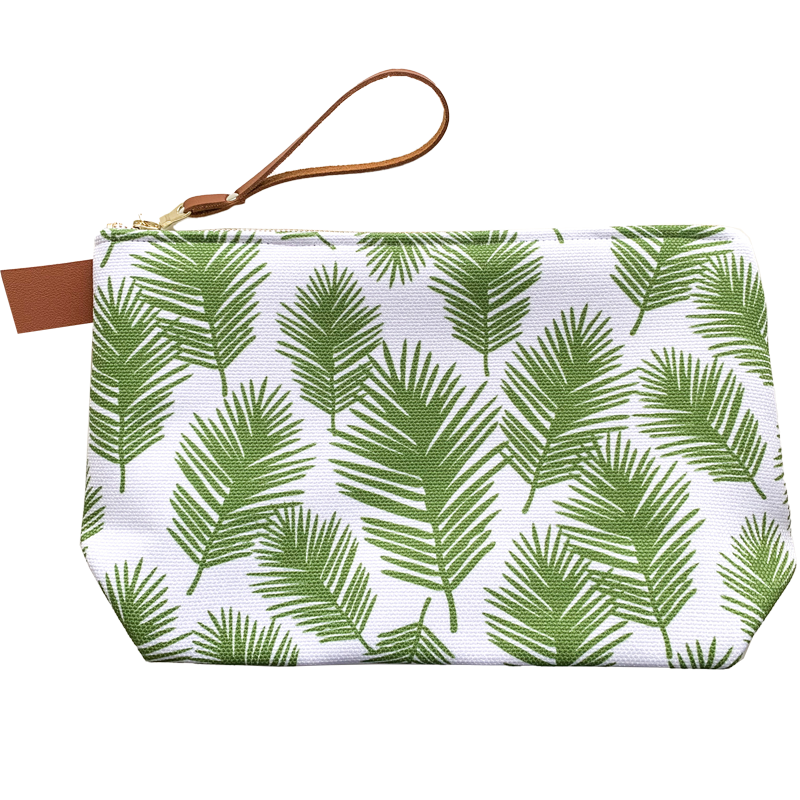 Palm Leaves Large Makeup Bag