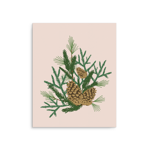 Pine Cone Bouquet Poster