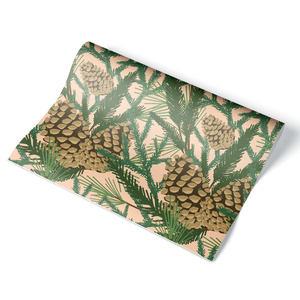 Pine Cone Wrapping Paper Sheet
