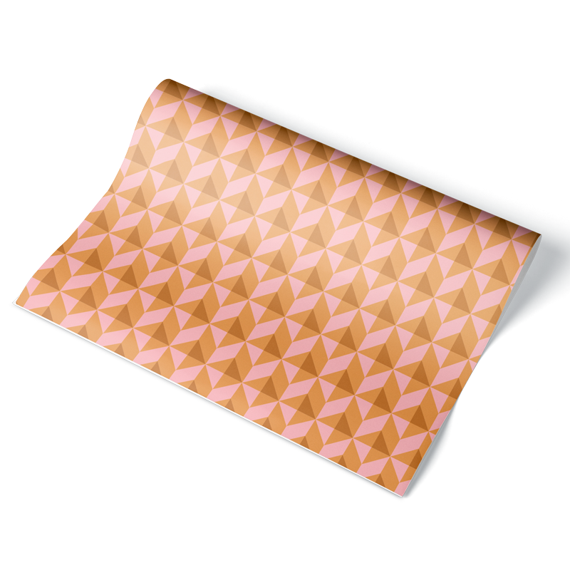 Sand Dune Geometric Wrapping Paper Sheet