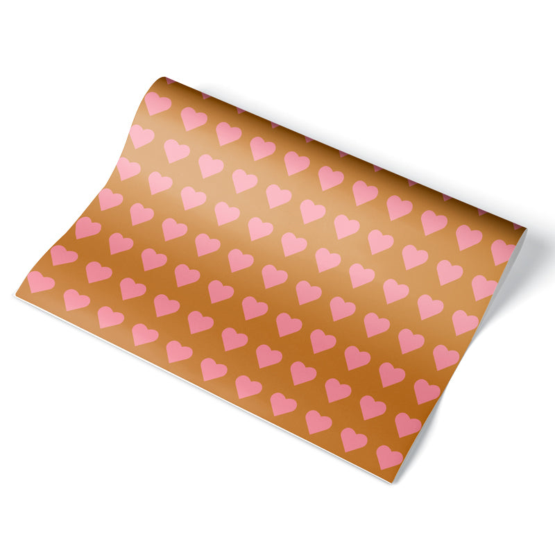Simple Heart Wrapping Paper Sheet