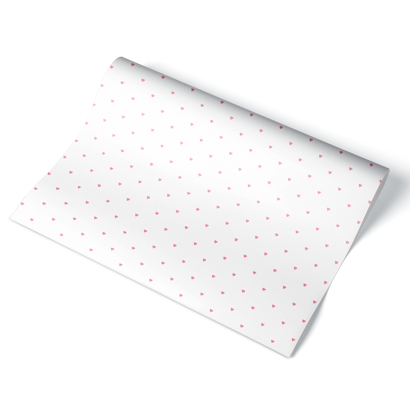 Tiny Hearts Wrapping Paper Sheet