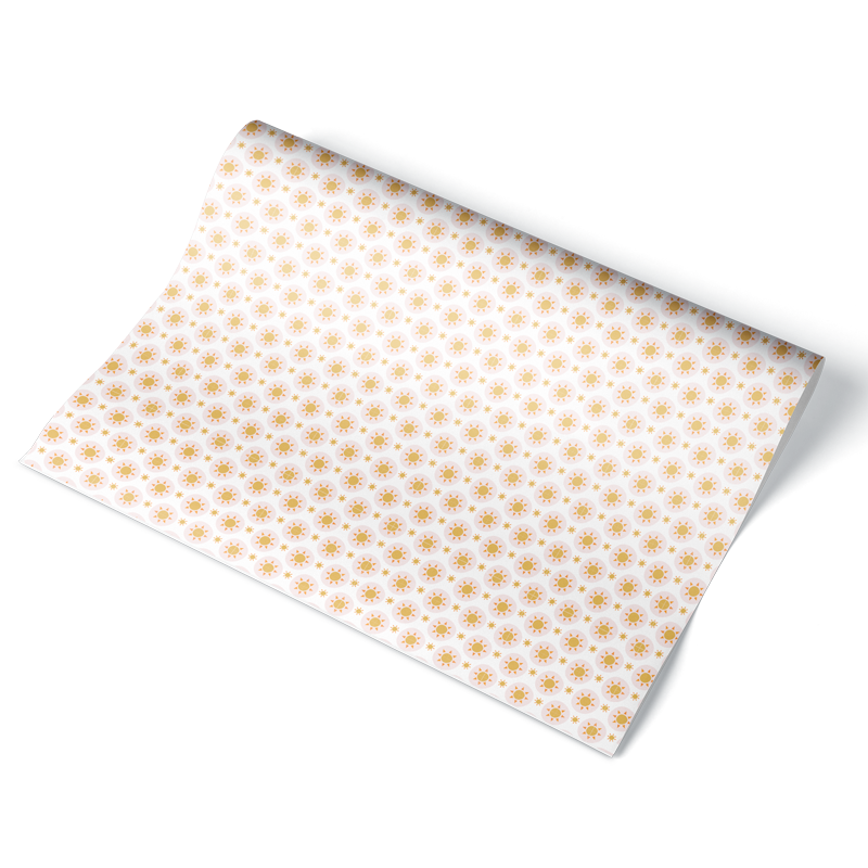 Simple Sun Wrapping Paper Sheet