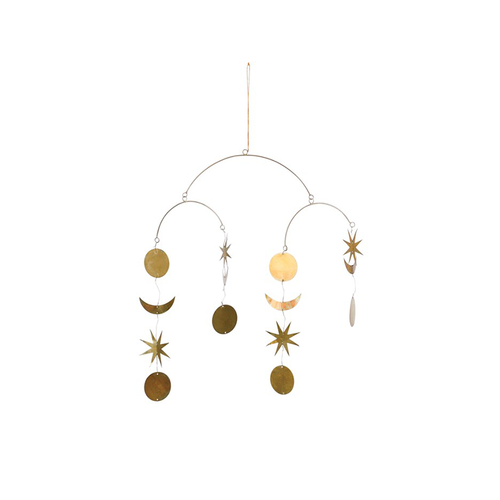 Moon & Stars Brass Mobile