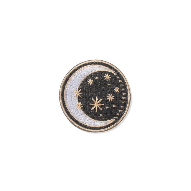 Moon & Stars Embroidered Patch