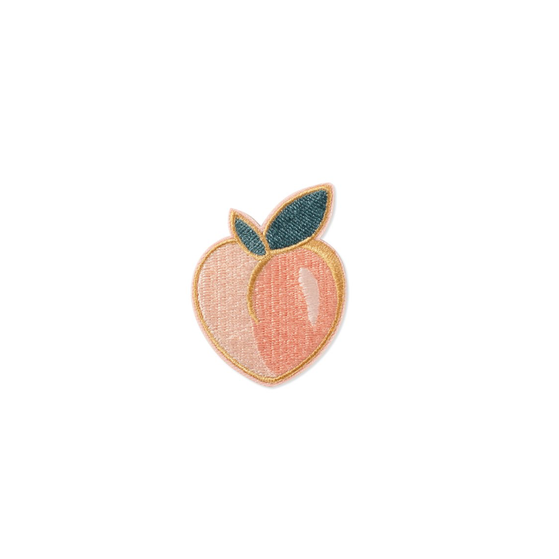 Peach Embroidered Patch