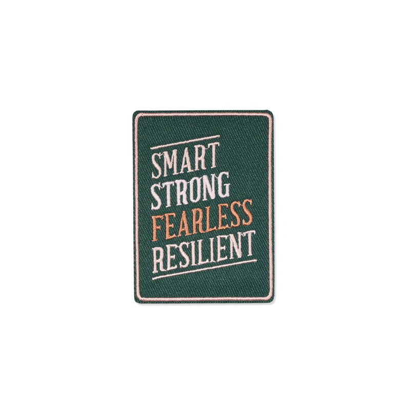 Smart Strong Fearless Resilient Embroidered Patch
