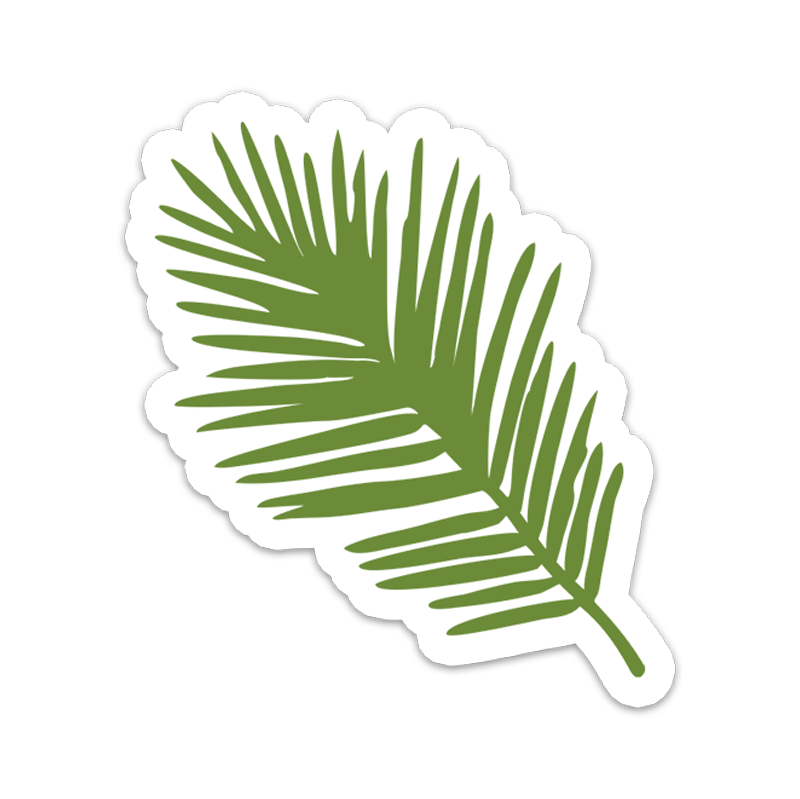 Palm Leaf Vinyl Sticker