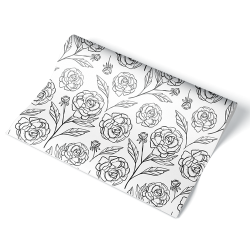 Rose Wrapping Paper Sheet