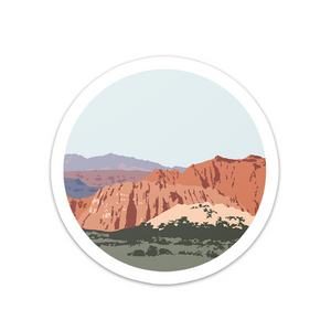 Snow Canyon Utah Vinyl Sticker