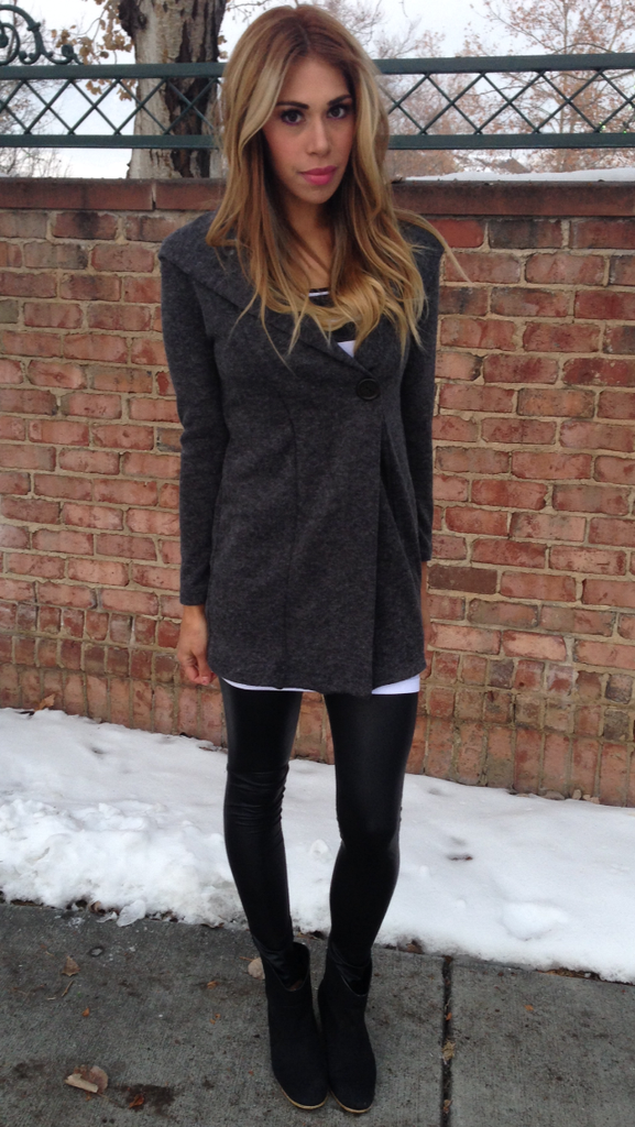 One Button Hood Cardigan