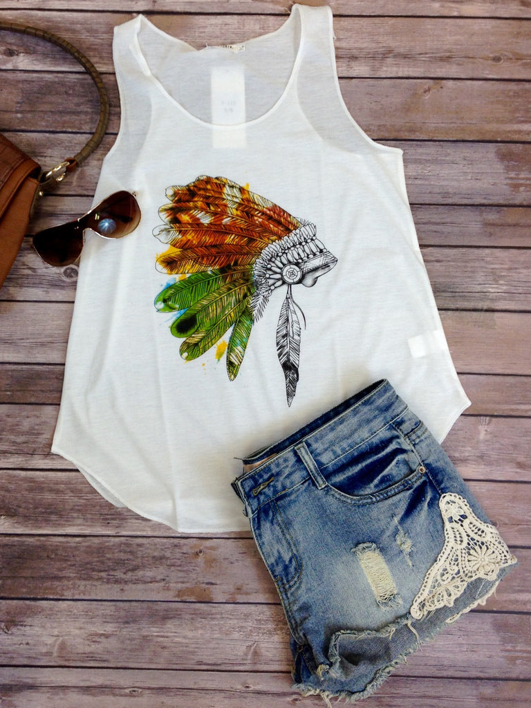 Colored Feathers Tank