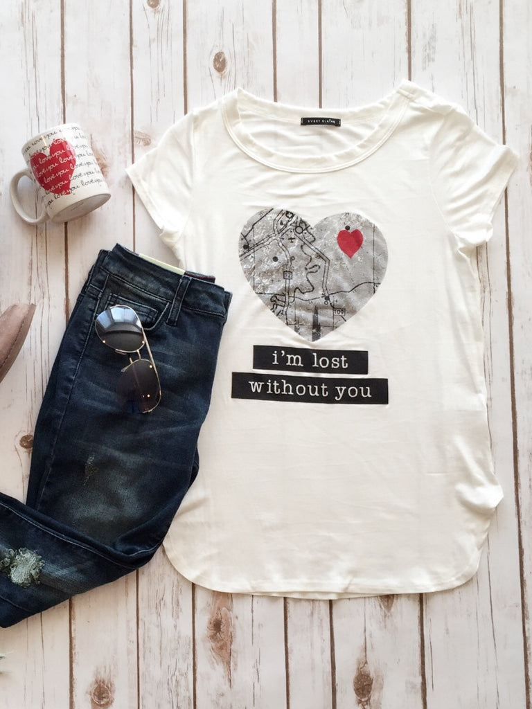 Lost Without You Tee
