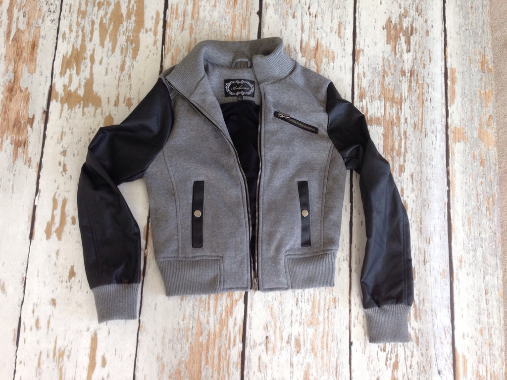 Varsity Jacket (Heather Grey and Charcoal)