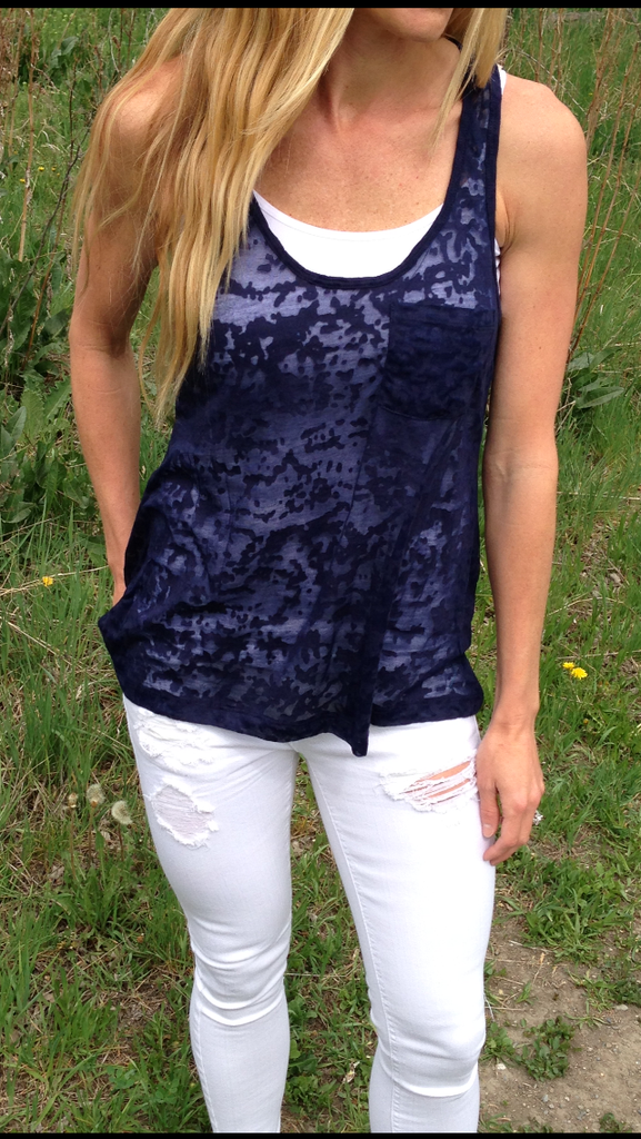 Burnout Tank (Navy)