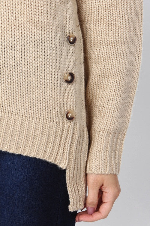 Knit Sweater with Button Detail