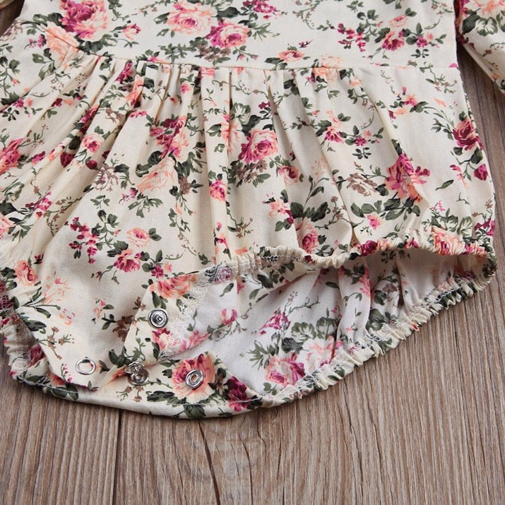 Floral Ruffle Detail Romper