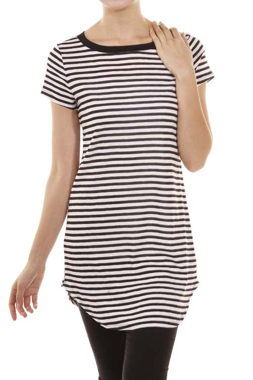Striped Short Sleeve Tunic