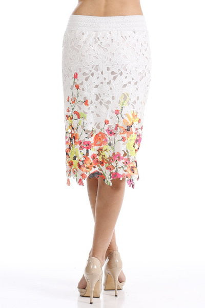Crochet Printed Skirt
