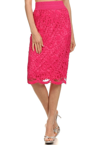 Crochet Midi Skirt (5 Colors)