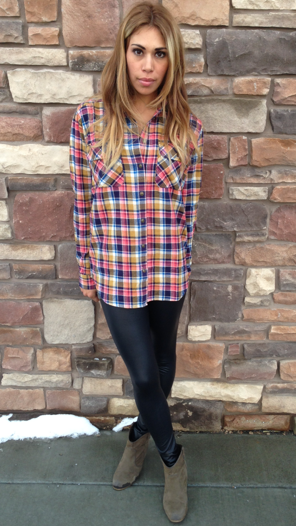 Plaid Top