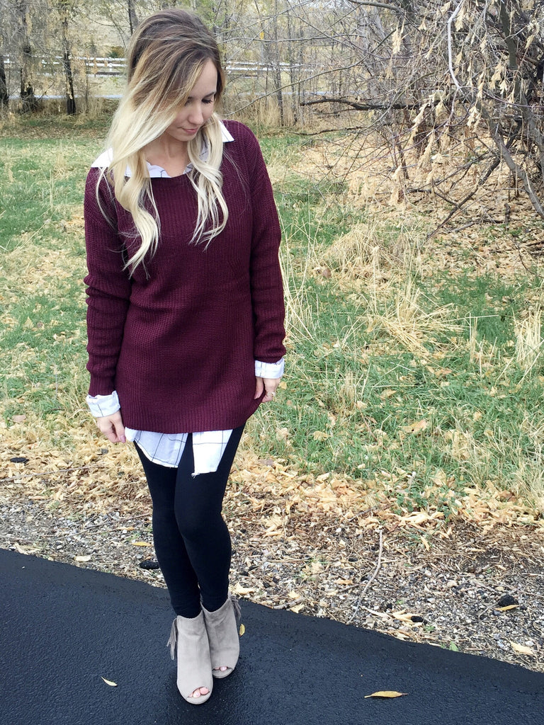 Grid Tunic Top