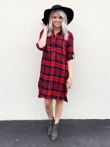 Plaid Dress (Red/Black and Black/White)