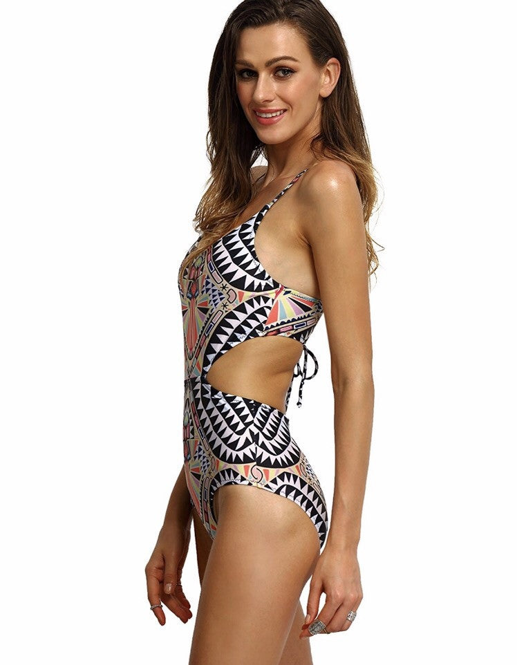 Cleo Lace Up Swimsuit