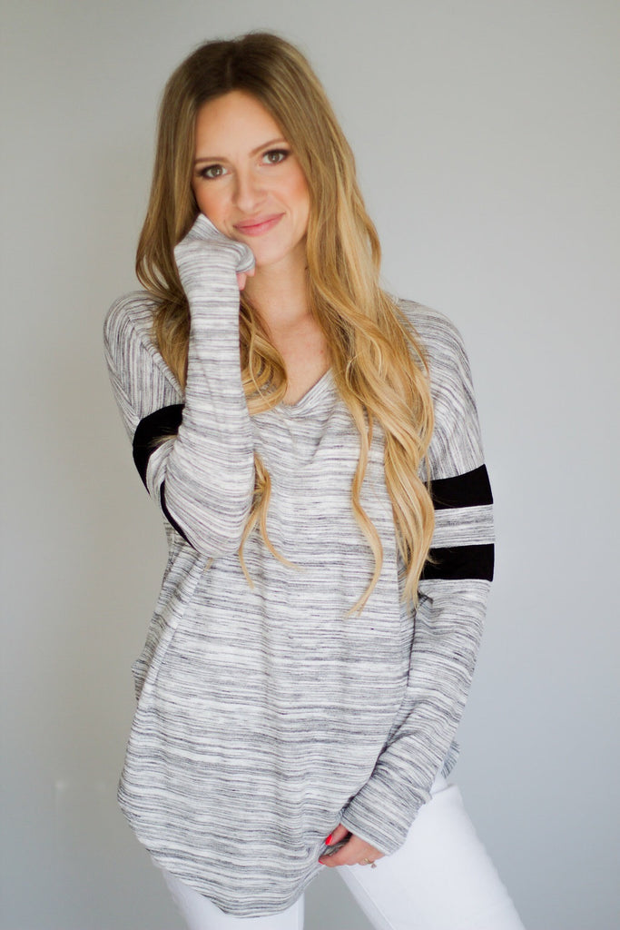 Double Stripe Sleeve Top