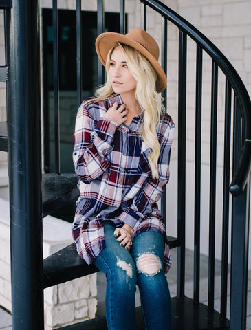 Portland Plaid Top