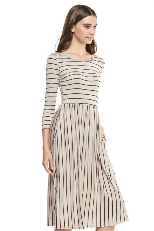Stripe Dress with Pockets