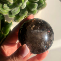 """New"" Smokey Quartz Sphere 🔮"