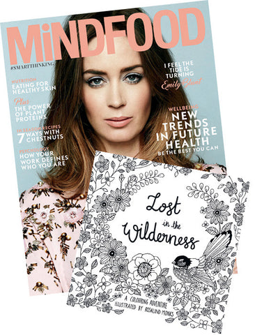MiNDFOOD Subscription + Lost in the Wilderness Colouring book