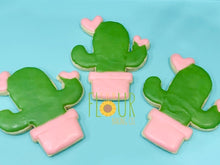 Load image into Gallery viewer, Cactus Heart Cookie