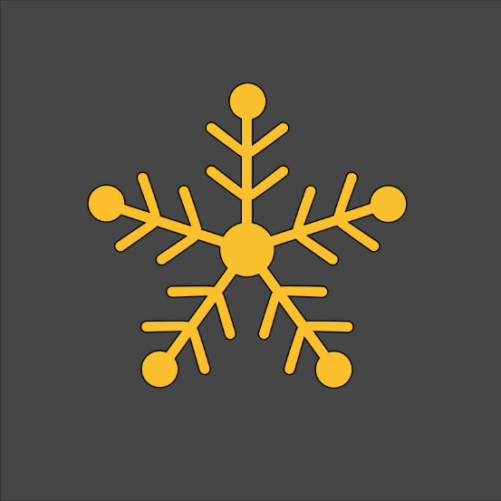 Winter Snowflake Stencil